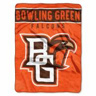 Bowling Green State Falcons Basic Plush Raschel Blanket