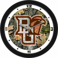 Bowling Green State Falcons Camo Wall Clock