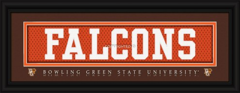 "Bowling Green State Falcons ""Falcons"" Stitched Jersey Framed Print"