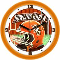 Bowling Green State Falcons Football Helmet Wall Clock