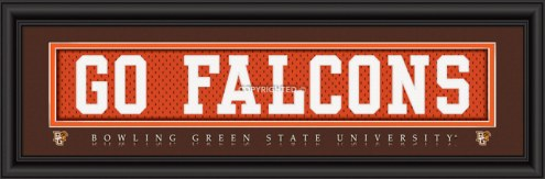 """Bowling Green State Falcons """"Go Falcons"""" Stitched Jersey Framed Print"""