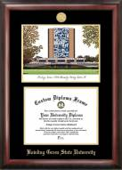 Bowling Green State Falcons Gold Embossed Diploma Frame with Lithograph