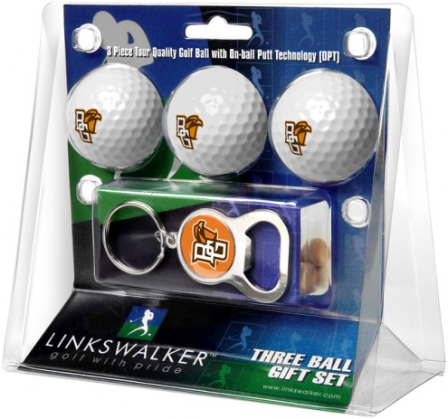 Bowling Green State Falcons Golf Ball Gift Pack with Key Chain