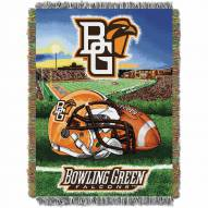 Bowling Green State Falcons Home Field Advantage Throw Blanket