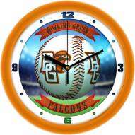Bowling Green State Falcons Home Run Wall Clock