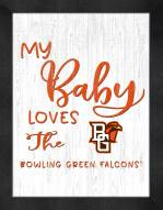 Bowling Green State Falcons My Baby Loves Framed Print