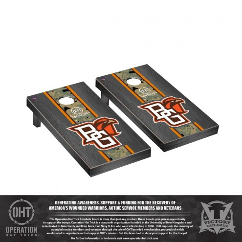Bowling Green State Falcons Operation Hat Trick Onyx Stained Cornhole Game Set
