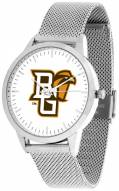 Bowling Green State Falcons Silver Mesh Statement Watch