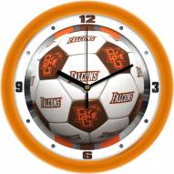 Bowling Green State Falcons Soccer Wall Clock