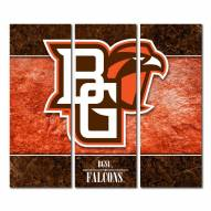 Bowling Green State Falcons Triptych Double Border Canvas Wall Art