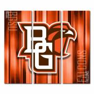 Bowling Green State Falcons Triptych Rush Canvas Wall Art