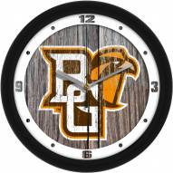 Bowling Green State Falcons Weathered Wood Wall Clock