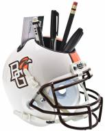 Bowling Green State Falcons White Schutt Football Helmet Desk Caddy