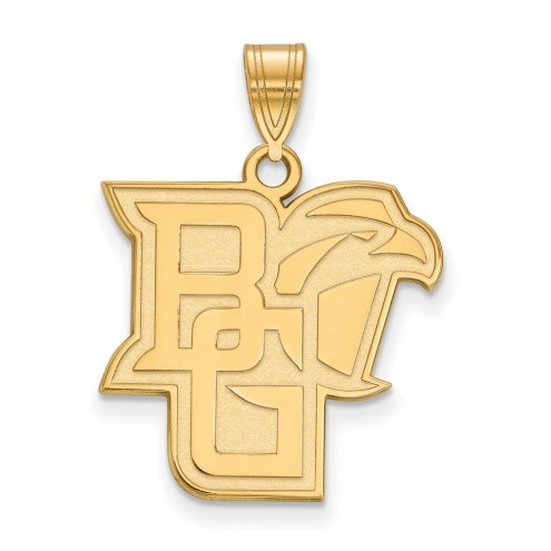 Bowling Green State Falcons NCAA Sterling Silver Gold Plated Large Pendant
