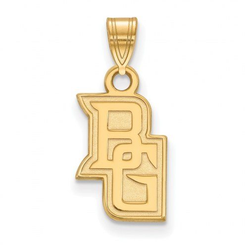 Bowling Green State Falcons NCAA Sterling Silver Gold Plated Small Pendant