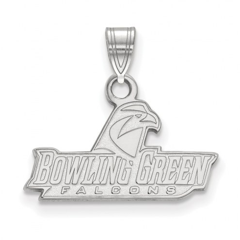 Bowling Green State Falcons Sterling Silver Small Pendant