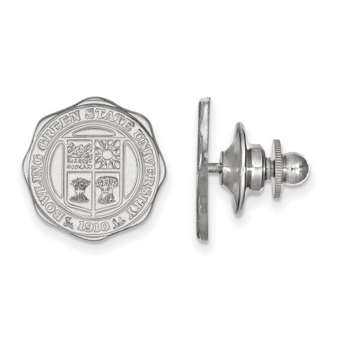 Bowling Green State Falcons Sterling Silver Crest Lapel Pin