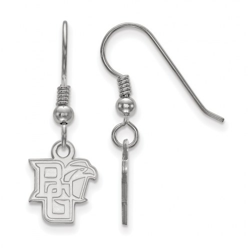 Bowling Green State Falcons Sterling Silver Extra Small Dangle Earrings
