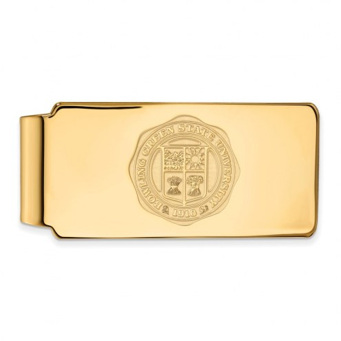 Bowling Green State Falcons Sterling Silver Gold Plated Money Clip