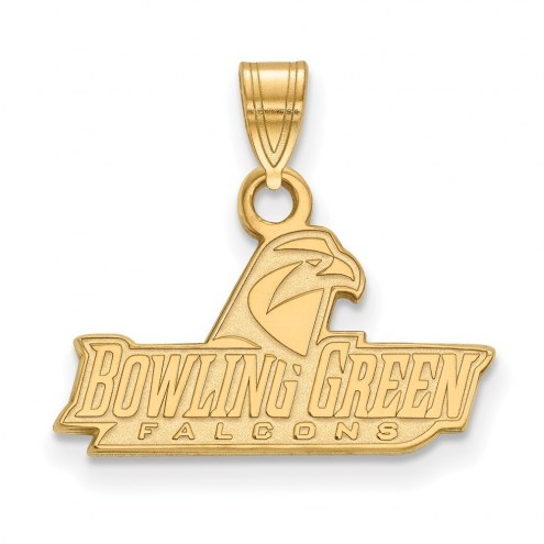 Bowling Green State Falcons Sterling Silver Gold Plated Small Pendant