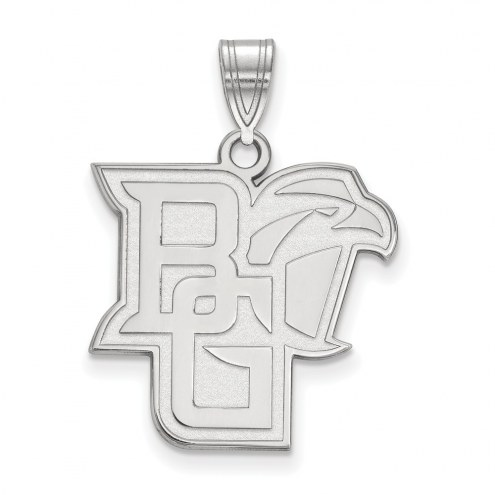 Bowling Green State Falcons Sterling Silver Large Pendant