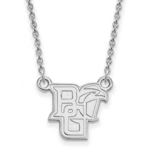 Bowling Green State Falcons Sterling Silver Small Pendant Necklace