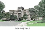 Bradley Braves Campus Images Lithograph