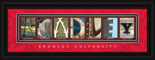 Bradley Braves Campus Letter Art
