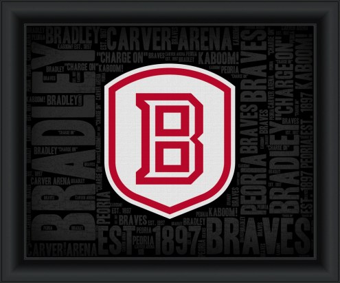 Bradley Braves College Word Cloud