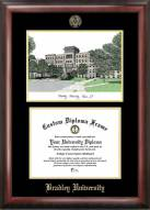 Bradley Braves Gold Embossed Diploma Frame with Lithograph
