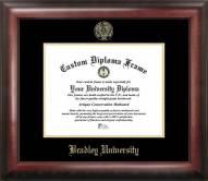 Bradley Braves Gold Embossed Diploma Frame