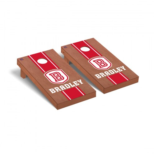 Bradley Braves Rosewood Stained Cornhole Game Set