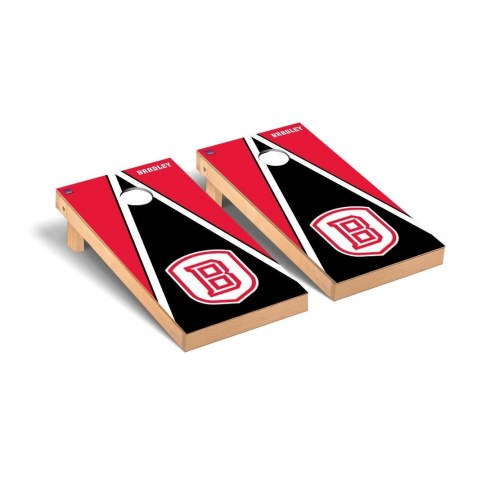 Bradley Braves Triangle Cornhole Game Set