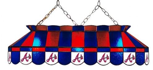 """Atlanta Braves MLB Team 40"""" Rectangular Stained Glass Shade"""