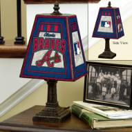 Atlanta Braves MLB Hand-Painted Art Glass Table Lamp