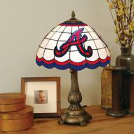 Atlanta Braves MLB Stained Glass Table Lamp