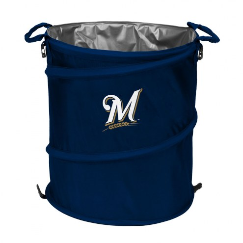 Milwaukee Brewers MLB Collapsible Trashcan