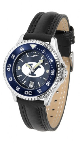 BYU Cougars Competitor AnoChrome Women's Watch - Color Bezel