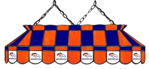 "Denver Broncos NFL Team 40"" Rectangular Stained Glass Shade"