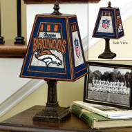 Denver Broncos NFL Hand-Painted Art Glass Table Lamp