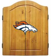 Denver Broncos NFL Complete Dart Board Cabinet Set (w/darts & flights)