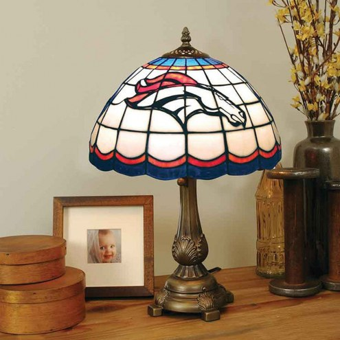 Denver Broncos NFL Stained Glass Table Lamp