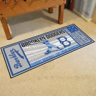 Brooklyn Dodgers Ticket Runner Rug