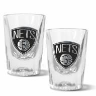 Brooklyn Nets 2 oz. Prism Shot Glass Set