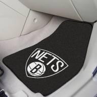 Brooklyn Nets 2-Piece Carpet Car Mats