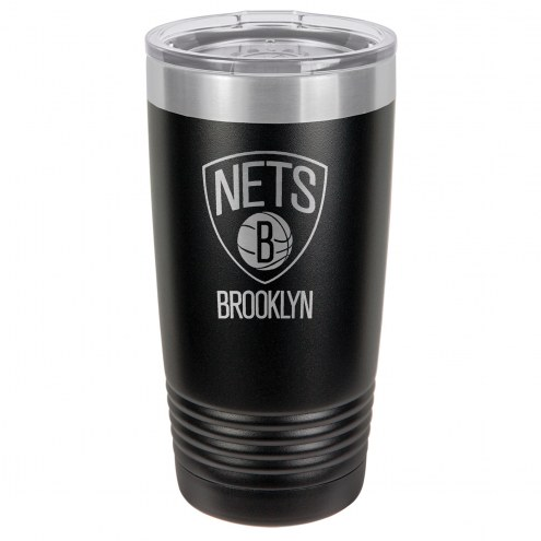 Brooklyn Nets 20 oz. Black Stainless Steel Polar Tumbler