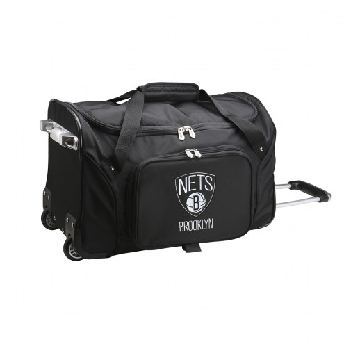 "Brooklyn Nets 22"" Rolling Duffle Bag"