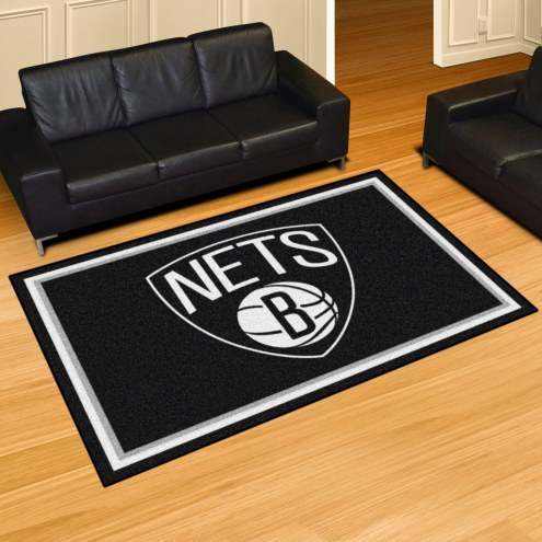 Brooklyn Nets 5' x 8' Area Rug