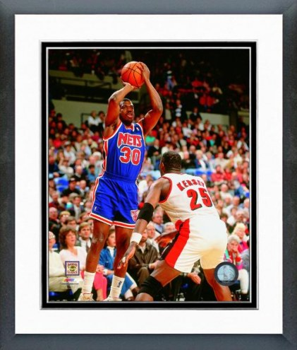 Brooklyn Nets Bernard King 1993 Action Framed Photo