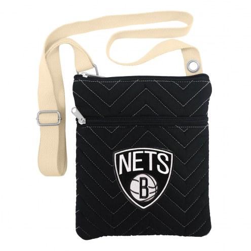 Brooklyn Nets Chevron Stitch Crossbody Bag